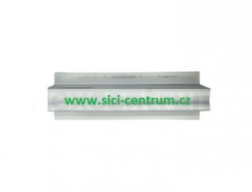 hliníkové pravítko s bezpečnostní rukojetí 21cm