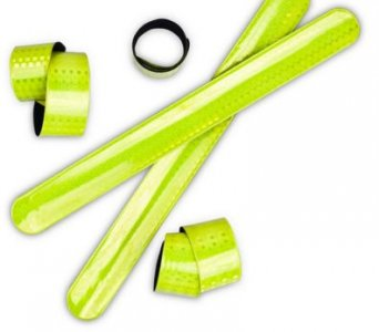reflexní samonavíjecí flexi páska žlutá délka XXL velikost! 4x43cm