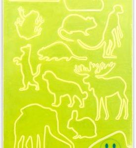 reflexní samolepky A4 zvířátka 11ks/zákaz praní!