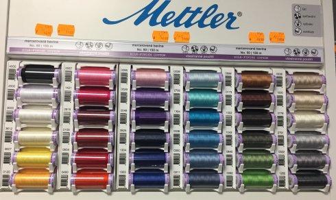 niťě mettler mercerovaná bavlna 150m