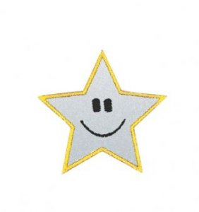 reflexní nažehlovačka hvězda 45mm