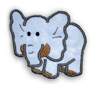 reflexní nažehlovačka slon  65x60mm