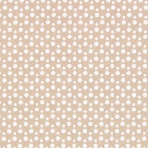 látka Gütermann Weros World šíře 145cm 100%bavlna b         éžová s bílými puntíky