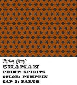 látka shaman-spirits-pumpkin 100%bavlna                     110cm šíře/rowan