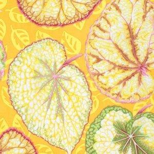 látka fall 2014-big leaf-yellow 100%bavlna                  110cm šíře, rowan