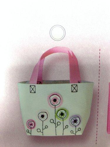 kreativní set z filcu, rozměr cca 15x26x9cm taška květinová louka