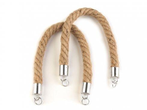 ucha na tašky provázkové splét.42cm(včetně kroužků), síla 17mm a cca 90g, přírodní sisal