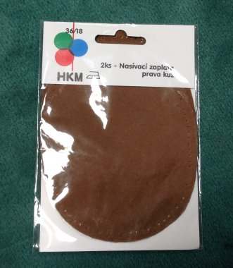 záplata našívací pravá kůže 10,5x13 sv.hnědá