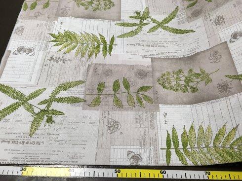 látka dekorační š.140/55%Ba.45%PES, 190g/m2 rostliny