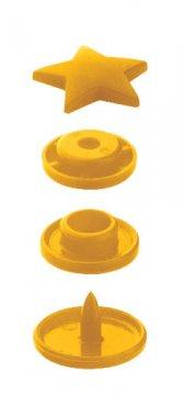 plastové druky PRYM hvězdičky žluté 30ks