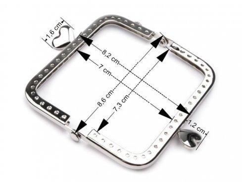 zapínání kov.rámeček 8,6x8,2cm našívací