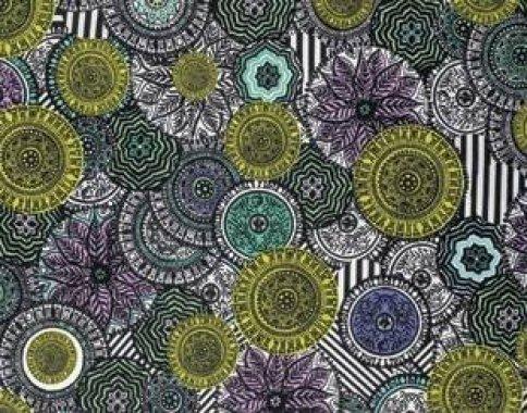 látka  100%bavlna byzantium-circles-opulent                 110cm šíře/rowan