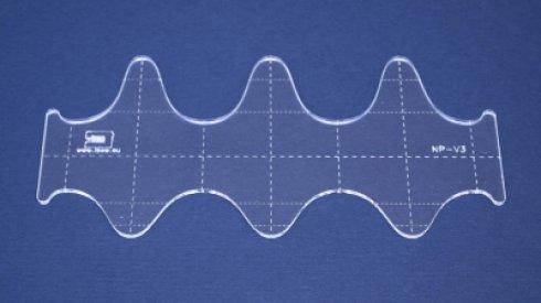 Quiltovací pravítko vlnky NP-V3