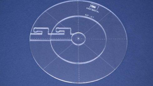 Quiltovací pravítko kruh vel. 1 - NP-K1 - 3 ks