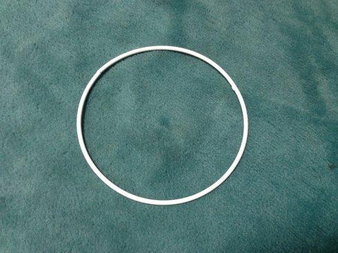 pro lapač snů kovový kruh 12cm bílý
