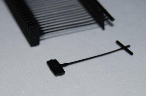 splinty do textilní pistole 40mm/STD 10000ks-ČERNÉ