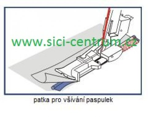 patka pro všívání paspulky Bernette 44/48