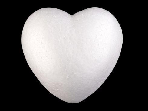 polystyrénové srdce 15cm