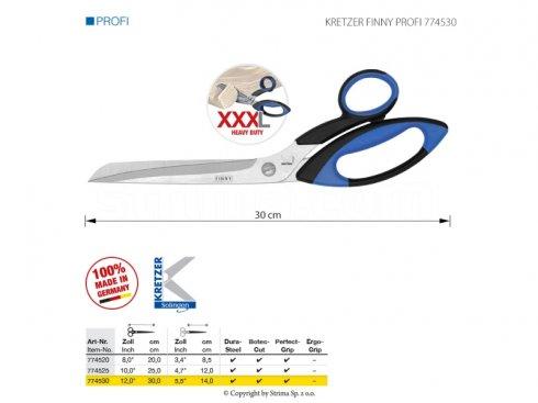 Nůžky pro přesné stříhání těžkých materiálů, délka 12