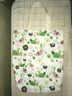 nákupní taška 100%bavlna cca 39x45cm
