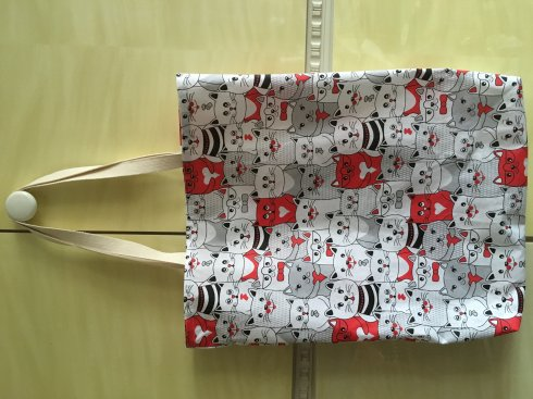 nákupní taška 100%bavlna cca 32x42cm