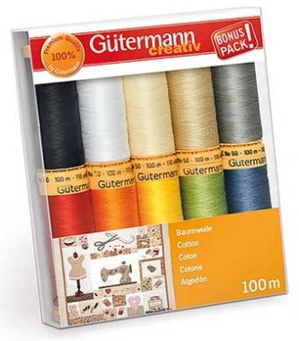 nitě Gütermann 10x100m 100%bavlna
