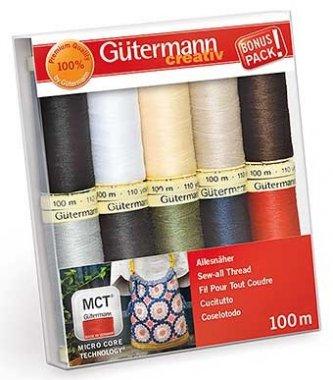 dárkový set nit Gütermann 10x100m 100%polyester