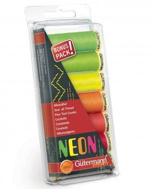 šicí nitě neonové creativ MIX(7barev po 100m)