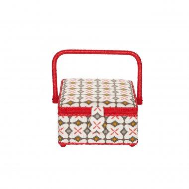 kazeta - košík na šicí potřeby M Retro rot