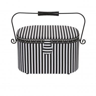 kazeta - košík na šicí potřeby L proužky