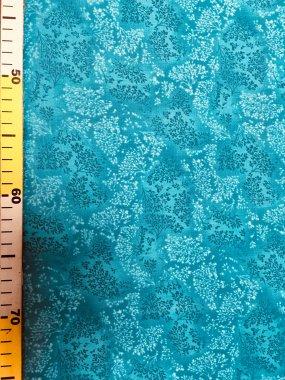 látka 140cm šíře/100%bavlna bylinky tyrkys