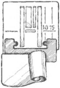 patka lemovací  šíře lemu 10mm-