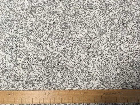 látka 100%bavlna mandaly 142cm šíře/140gm2