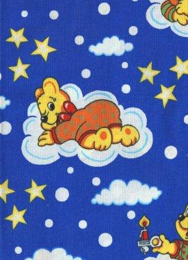 záplata nažehl.dětská 43x20cm medvídek na modré