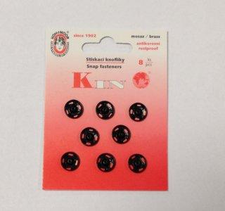 patentky kin v.3, 8ks/karta 10mm černé