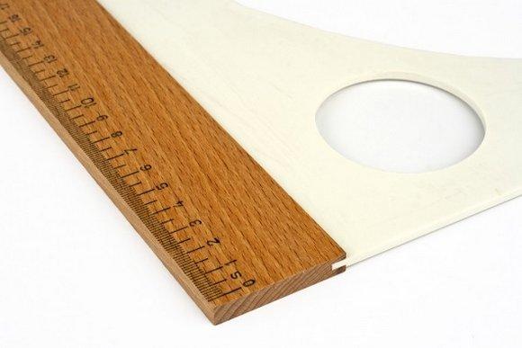 krejčovský příložník 60cm-dřevěný+plast (60x25)-