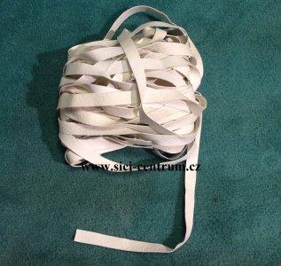 guma nepotažená 8x0,5 bílá plavková