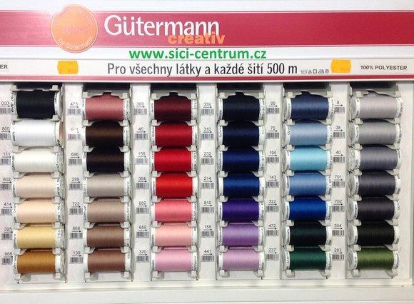 Polyesterové nitě návin 500m Gütermann-