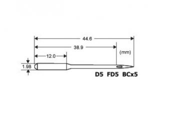 jehla FD5/D-5/BCX5 200 - Siruba