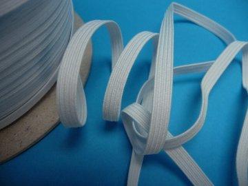 guma prádlová šíře 8mm bílá pega