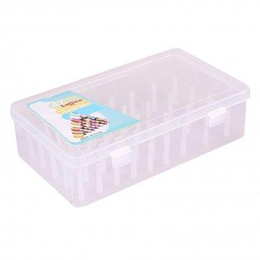 Plastový velký šicí box na nitě 100/200/500/1000m -         pro 42 špulek