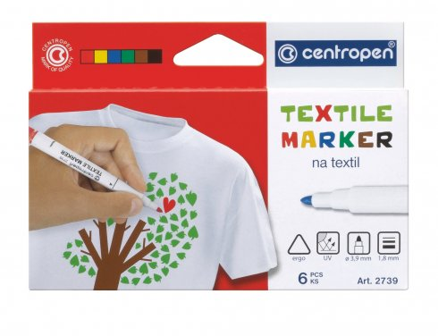 značkovač / fix na textil sada 6ks barev