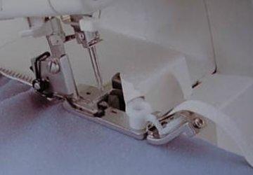 patka pro všívání gumy pro overlock
