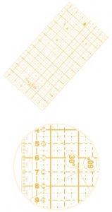 patchworkové pravítko 16x32cm žluté