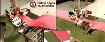 patka na sešívání dvou tkanin - přeplátovaný steh