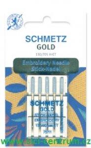 jehla Gold vyšívací 705H/75 zlatá 5