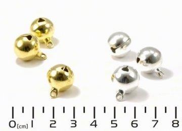 rolnička 15mm kovová stříbrná/zlatá