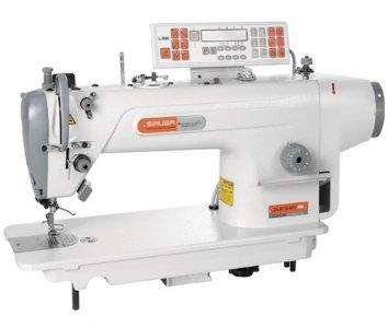 průmyslový šicí stroj Siruba DL918-NM1-13 s jehelním podáváním na střední materiály a servomotorem, elektronický panel
