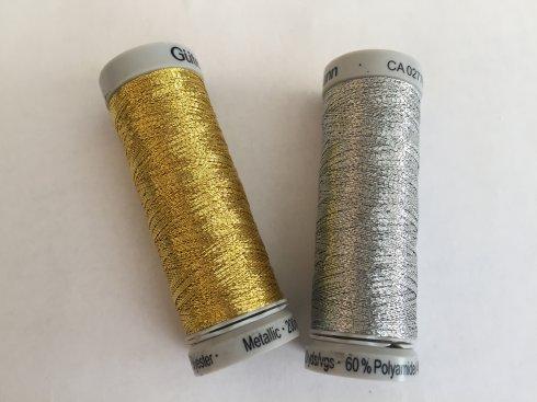 nit vyšívací Gütermann SULKY Metallic 200m zlatá/stříbrná