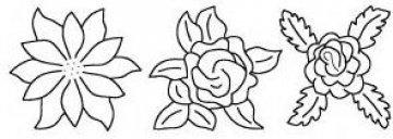 šablona pro quilt - kytky
